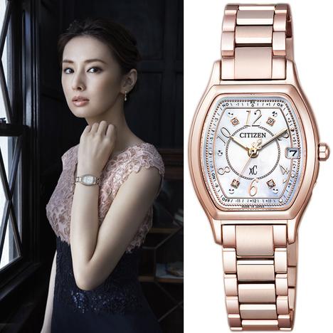 クロスシー XC シチズン CITIZEN 腕時計 世界限定3700本モデル ダイヤ4石白蝶貝文字 サクラピンク ティタニアライン ハッピーフライト エコ・ドライブ 正規品 ES9356-55W