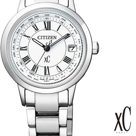 33%OFF クロスシー XC シチズン CITIZEN 腕時計 ウォッチ レディース ティタニアライン ハッピーフライト ソーラー電波 正規品 EC1140-51A