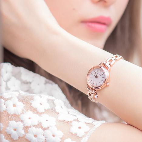 33%OFF ウィッカ Wicca シチズン CITIZEN レディース腕時計ブレスライン ハッピーダイアリー ソーラー電波 有村架純マスコミモデル KL0-529-31