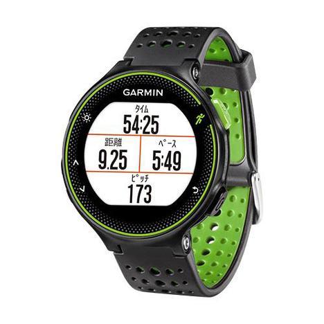 10%OFF ガーミン Garmin GPS搭載ランニングウォッチ フォーアスリート235J カラー 心拍計 11時間稼働 ブラック グリーン 腕時計 日本版正規品 010-03717-6K