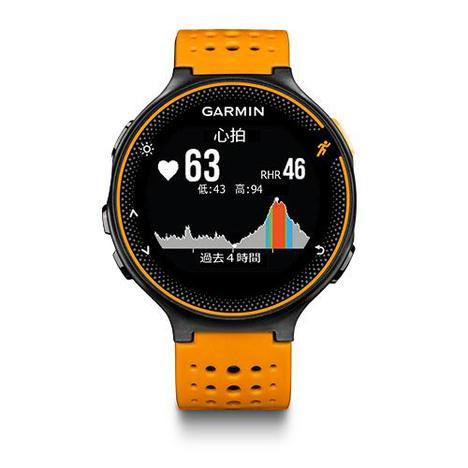 10%OFF ガーミン Garmin GPS搭載ランニングウォッチ フォーアスリート235J カラー 心拍計 11時間稼働 ブラック オレンジ 腕時計 日本版正規品 010-03717-6J