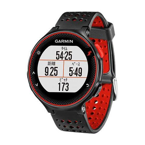 10%OFF ガーミン Garmin GPS搭載ランニングウォッチ フォーアスリート235J カラー 心拍計 11時間稼働 ブラック レッド 腕時計 日本版正規品 010-03717-6H