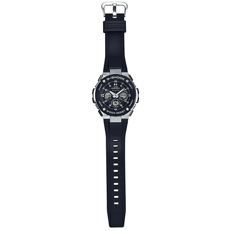 20%OFF G-SHOCK G-ショック 腕時計 Gスチール G-STEEL ダウンサイジング シルバー×ブラックウレタン CASIO カシオ 国内正規品 GST-W300-1AJF