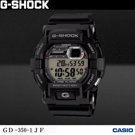 20%OFF G-SHOCK G-ショック 腕時計 ウォッチ バイブレーションアラーム ブラック デジタル CASIO カシオ 国内販売向け正規品 GD-350-1JF
