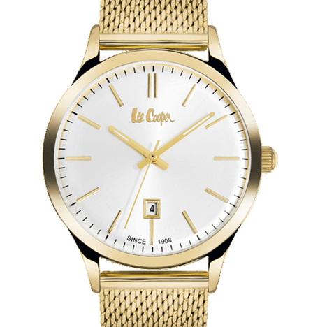 20%OFF リークーパー LeeCooper ロンドン発 デニムブランド ホワイト文字盤 ステンレスメッシュベルト 腕時計 メンズウォッチ  正規品 LC6291.130