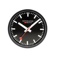モンディーン Mondaine 壁掛け時計  Wall Clock  ウォール クロック ブラック 直径25cm A990.CLOCK.64SBB