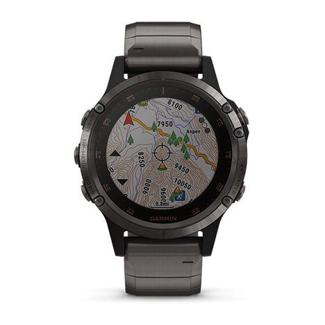 10%OFF ガーミン Garmin GPS搭載マルチスポーツスマートウォッチ フルカラー地図ナビ フェニックス5プラス サファイア Tiブラック 心拍計測 日本版正規品 010-01988-84