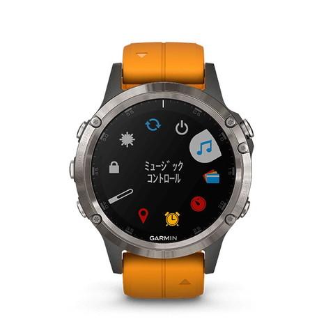 10%OFF ガーミン Garmin GPS搭載マルチスポーツスマートウォッチ フルカラー地図ナビ フェニックス5プラス サファイア Tiグレー 心拍計測 日本版正規品 010-01988-72