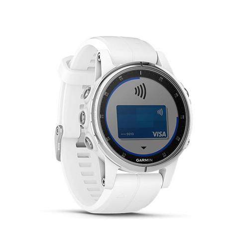 10%OFF ガーミン Garmin GPS搭載マルチスポーツスマートウォッチ フルカラー地図ナビ フェニックス5Sプラス サファイア ホワイト 心拍計測 日本版正規品 010-01987-72