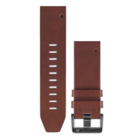 ガーミン GARMIN QuickFit(R) 22mm Brown Leather クイックフィット 22ミリ ブラウンレザー 牛革 替えベルト 純正部品 010-12496-09
