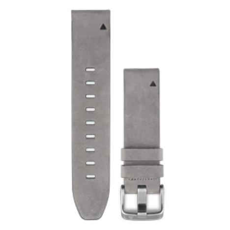ガーミン GARMIN QuickFit(R) 20mm Gray Leather クイックフィット 20ミリ グレーレザー 牛革 替えベルト 純正部品 010-12491-23
