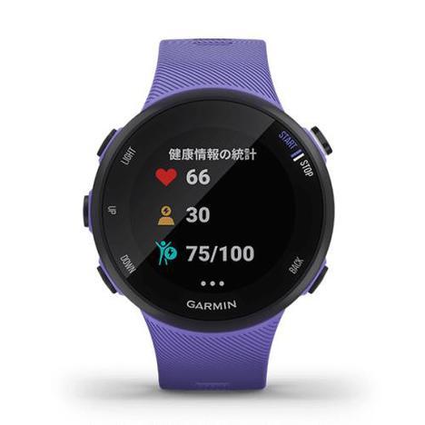 ガーミン Garmin GPSランニングスマートウォッチ フォーアスリート45S アイリス 初中級者向け 心拍計 日本版正規品 010-02156-41