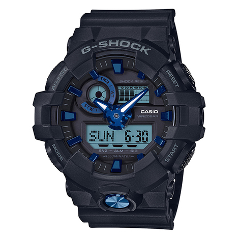 G-ショック G-SHOCK GA-700系 ガリッシュカラーシリーズ ブラック アナログ×デジタル 腕時計 CASIO カシオ 国内正規品 GA-710B-1A2JF