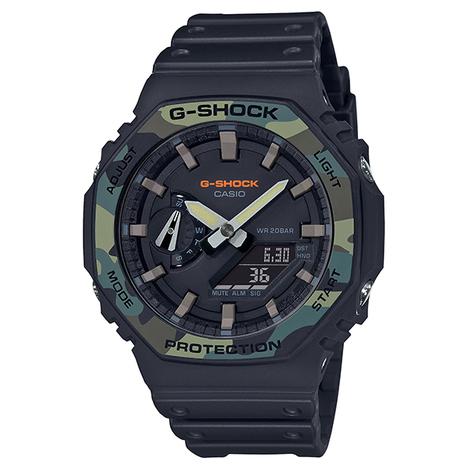 G-ショック G-SHOCK DW-5000C進化系 迷彩ベゼル 薄型 八角形 デジタル×アナログ 腕時計 CASIO カシオ 国内正規品 GA-2100SU-1AJF