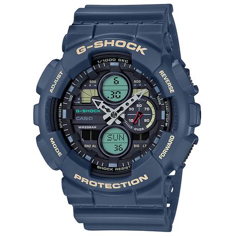 G-ショック G-SHOCK ブルー GA-140系 デジタル×アナログ 腕時計 CASIO カシオ 国内正規品 GA-140-2AJF