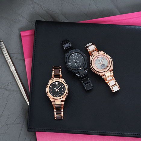 ベビーG Baby-G G-MS ピンクゴールドメタル×ブラウン樹脂 コンポジット 電波ソーラー 腕時計 CASIO カシオ 国内正規品 MSG-W200CG-5AJF