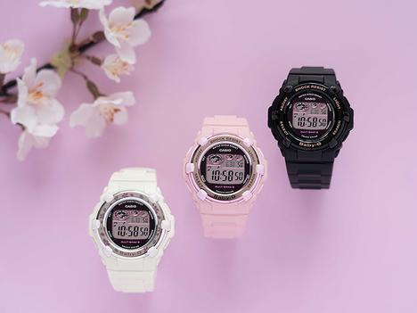 ベビーG Baby-G チェリーブロッサムカラーズ パステルピンク 電波ソーラー 20気圧防水 デジタル レディース 腕時計 CASIO カシオ 国内正規品 BGR-3000CB-4JF