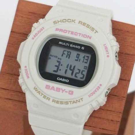 ベビーG Baby-G ベーシック 電波ソーラー ホワイト 20気圧防水 レディース デジタル 腕時計 CASIO カシオ 国内正規品 BGD-5700-7JF