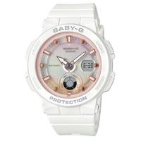 ベビーG Baby-G ビーチトラベラーシリーズ ホワイト デジタル×アナログ ワールドタイム レディース ウォッチ 腕時計 CASIO カシオ 国内正規品 BGA-250-7A2JF