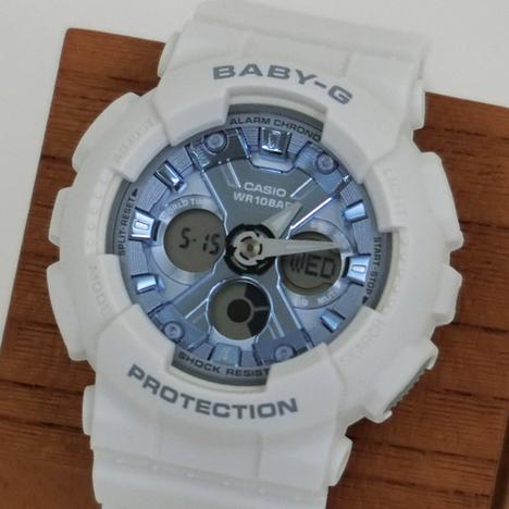 ベビーG Baby-G デジタル×アナログ BA-130系 ホワイト メタリックブルー文字盤 レディース ウォッチ 腕時計 CASIO カシオ 国内正規品 BA-130-7A2JF