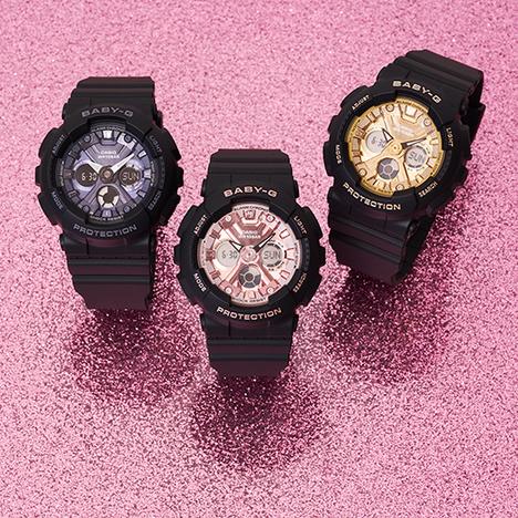 ベビーG Baby-G ブラック×ゴールド デジアナ BA-130系 レディース 腕時計 CASIO カシオ 国内正規品 BA-130-1A3JF