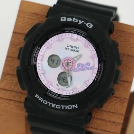 ベビーG Baby-G サマーグラデーションダイアルシリーズ BA-120系 ブラック×ピンク タイダイ柄 CASIO カシオ 国内正規品 BA-120T-1AJF