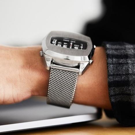 FUTURE FUNK フューチャーファンク アナログデジタルウォッチ ローラー式 シルバー メタルメッシュバンド クオーツ メンズ 腕時計 正規品 FF101-SV-SMT