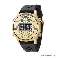 FUTURE FUNK フューチャーファンク スターウォーズモデル C3PO アナログデジタル ローラー式 クオーツ 腕時計 正規品 SW102-YG-RB