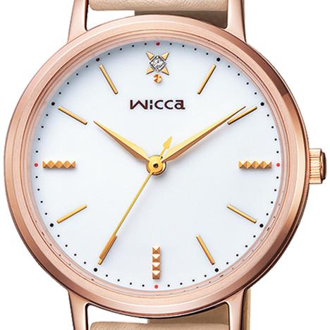 ウィッカ Wicca ソーラーテック カーフバンドモデル 牛革 レディース ウォッチ 女性用 腕時計 シチズン CITIZEN 正規品 KP5-166-10