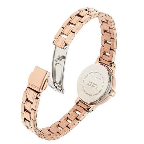 ウィッカ Wicca ソーラーテック ピンクゴールド ソーラー充電 シンプル レディース ウォッチ 女性用 腕時計 シチズン CITIZEN 正規品 KH9-965-91