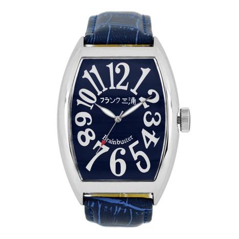 フランク三浦 六号機(改)マグナム ハイパーネイビー まさかの復活 美しき革命という異名を持つ伝説のモデル 完全非防水 腕時計 FM06K-NV