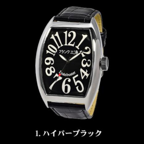 フランク三浦 六号機(改)マグナム ハイパーブラック まさかの復活 美しき革命という異名を持つ伝説のモデル 完全非防水 腕時計 FM06K-B