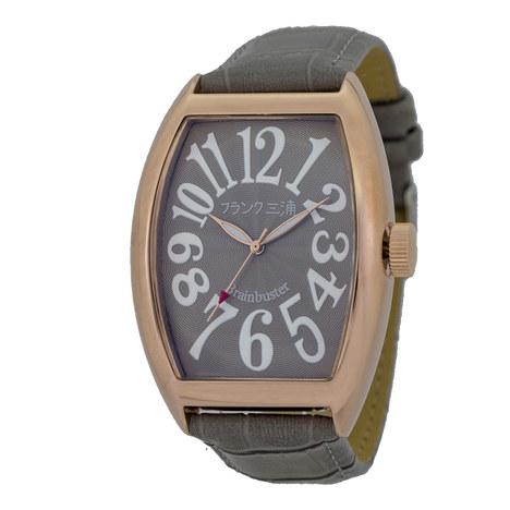 フランク三浦 六号機(改)マグナム ローズゴールド×ブラウン まさかの復活 美しき革命という異名を持つ伝説のモデル 完全非防水 腕時計 FM06K-GRRG