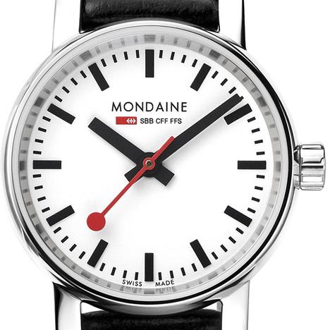 モンディーン Mondaine エヴォ2 Evo2 26mm ブラック 牛革バンド レディースウォッチ 腕時計 スイス 正規輸入品メーカー2年保証 MSE.26110.LB