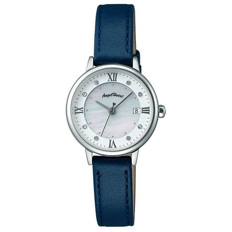 エンジェルハート Angel Heart リュクス Luxe ソーラー シルバー スワロフスキークリスタル カーフレザー 腕時計 レディースウォッチ 正規品 LU26S-NV