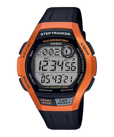 カシオスタンダード  デジタル ランニング ウォッチ 歩数計測 メンズ ラップメモリー200本 LEDライト 腕時計 カシオ CASIO 正規品 WS-2000H-4AJF
