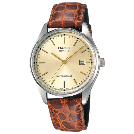 カシオスタンダード アナログ メンズウォッチ 牛革バンド チプカシ 日付 昔ながらの見やすい腕時計 カシオ CASIO 国内正規品 MTP-1175E-9AJF