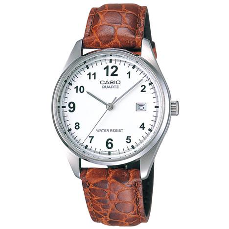 カシオスタンダード アナログ メンズウォッチ 牛革バンド チプカシ 日付 昔ながらの見やすい腕時計 カシオ CASIO 国内正規品 MTP-1175E-7BJF