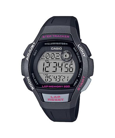 カシオスタンダード  デジタル ランニング ウォッチ 歩数計測 レディース ラップメモリー200本 LEDライト 腕時計 カシオ CASIO 正規品 LWS-2000H-1AJF