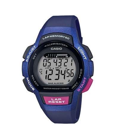 カシオスタンダード  デジタル ランニング ウォッチ レディース ラップ・スプリットタイム60本メモリー LEDライト 腕時計 カシオ CASIO 正規品 LWS-1000H-2AJF