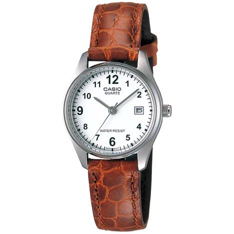 カシオスタンダード  アナログ レディースウォッチ 牛革バンド 日付 チプカシ 女性向け 見やすい 腕時計 カシオ CASIO 国内正規品 LTP-1175E-7BJF
