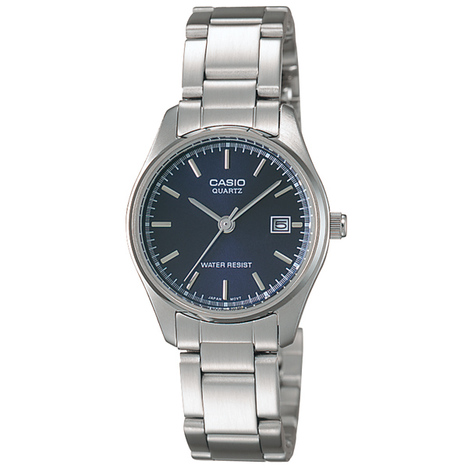 カシオスタンダード  アナログ レディース ネイビー文字盤 ステンレス3つ折バックルバンド チプカシ 腕時計 カシオ CASIO 国内正規品 LTP-1175A-2AJF