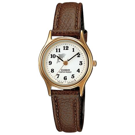 カシオスタンダード  アナログ レディースウォッチ 革バンド チプカシ 女性向け ドルフィン イルカ 見やすい 腕時計 カシオ CASIO 国内正規品 LQ-398GL-7B4