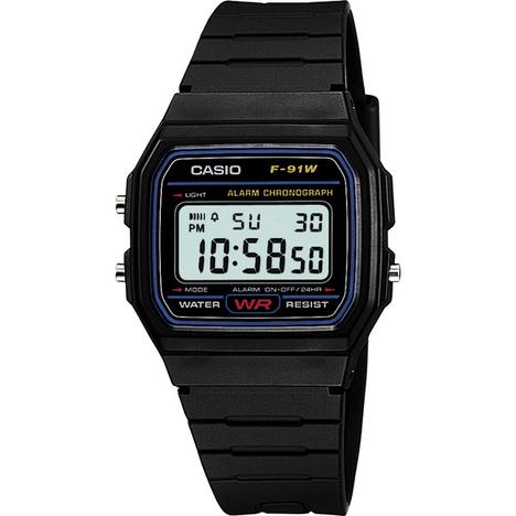 カシオスタンダード  デジタル ウォッチ チプカシ LEDライト ストップウォッチ 時刻アラーム 時報 腕時計 カシオ CASIO 国内正規品 F-91W-1JF