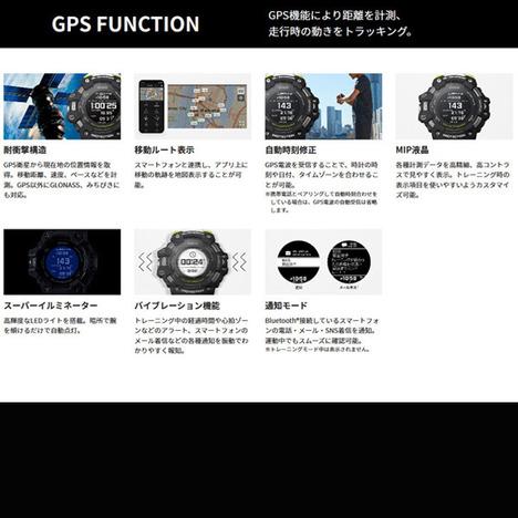 G-SHOCK ジースクアッド G-SQUAD GPS 心拍計 5センサー ワークアウトモニタリング スマホリンク 腕時計 CASIO カシオ 国内正規品 GBD-H1000-1JR