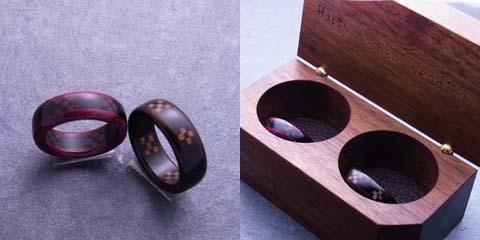 木の指輪屋さん 木の指輪 木婚式 金属アレルギー