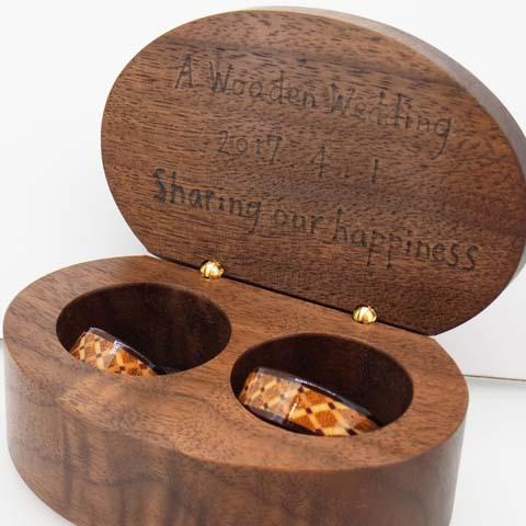 木婚式 木の指輪