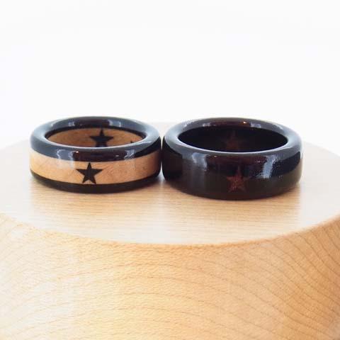 結婚指輪 黒檀