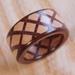 寄木の指輪タータン