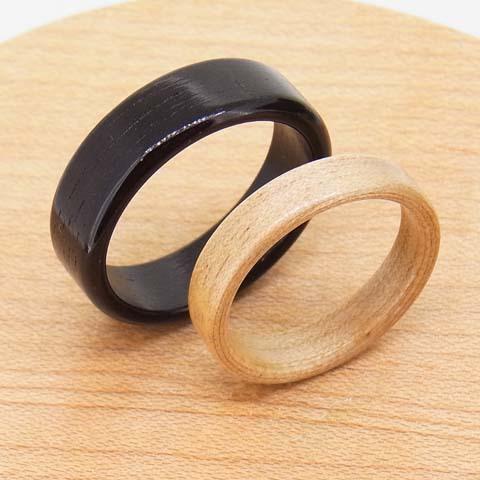 木の指輪 黒たん